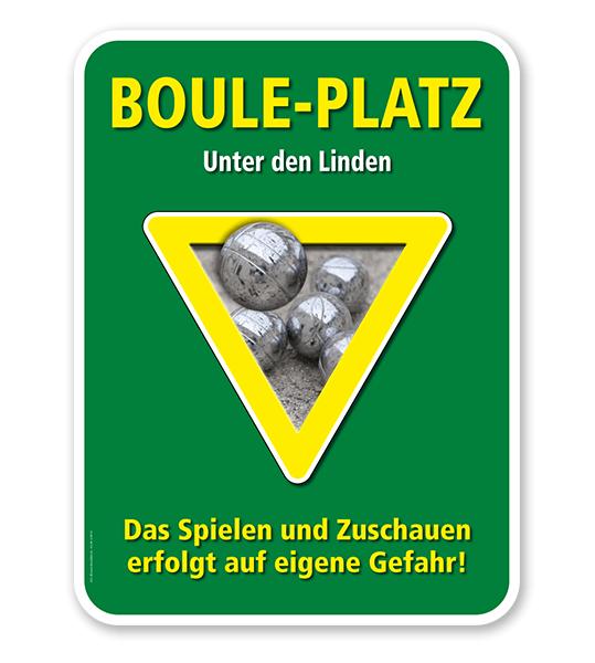 Schild Bouleplatz – G/GW