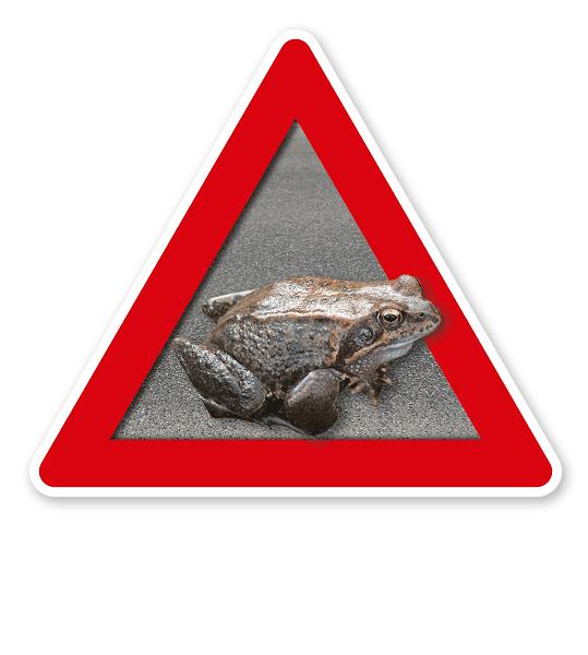 Verkehrsschild Achtung, Krötenwanderung – Tierschutz