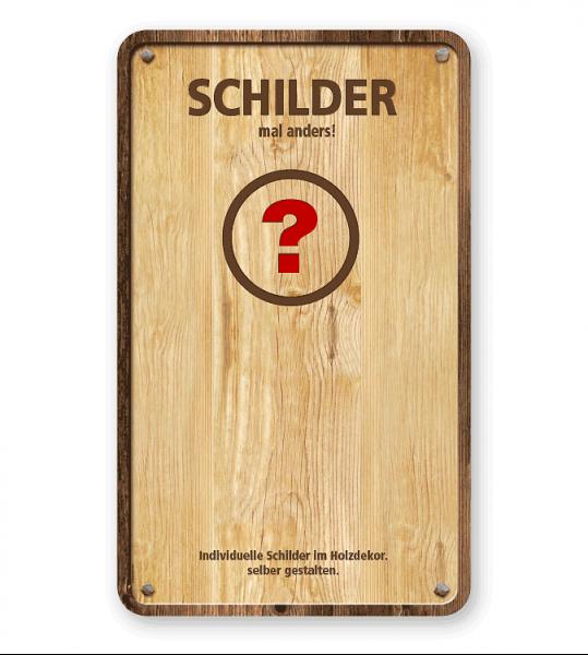 Individuelles Schild im Holzdekor 500/830 - GF-H