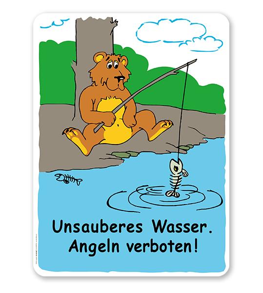 Schild Unsauberes Wasser - Angeln verboten - GS