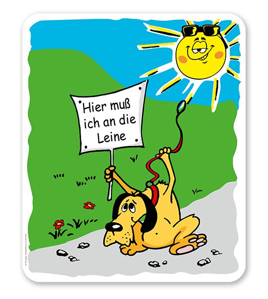 Hundeschild Hunde an die Leine nehmen - H