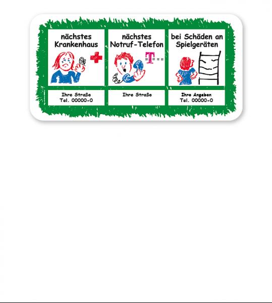 Zusatzschild zu Spielplatzschildern (02) - KSP-1