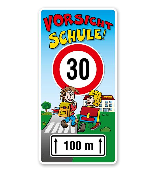 Kinderschild Vorsicht Schule 30er Zone - Teilstrecke - KSP-2