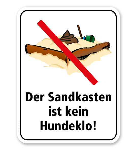 Spielplatzschild Der Sandkasten ist kein Hundeklo – KSP-2