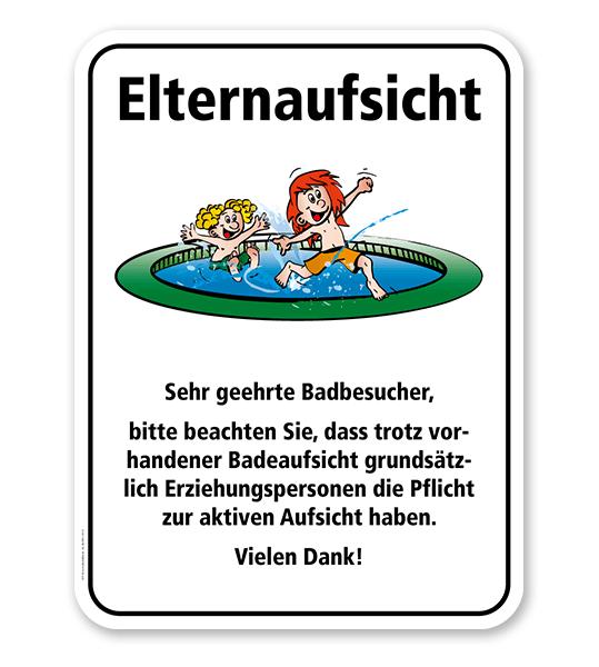 Badeschild Elternaufsicht am Kinderbecken – KSP-2