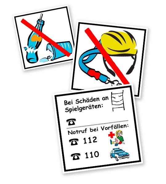 Spielplatz-Piktogramme als Aufkleber - KSP-2