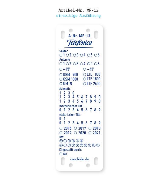 Kennzeichnung von Mobilfunkanlagen - Telefonica MF-13