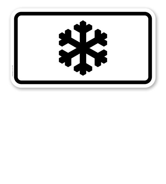 Zusatzschild Gefahr bei Glatteisbildung – Verkehrsschild VZ 1007-30