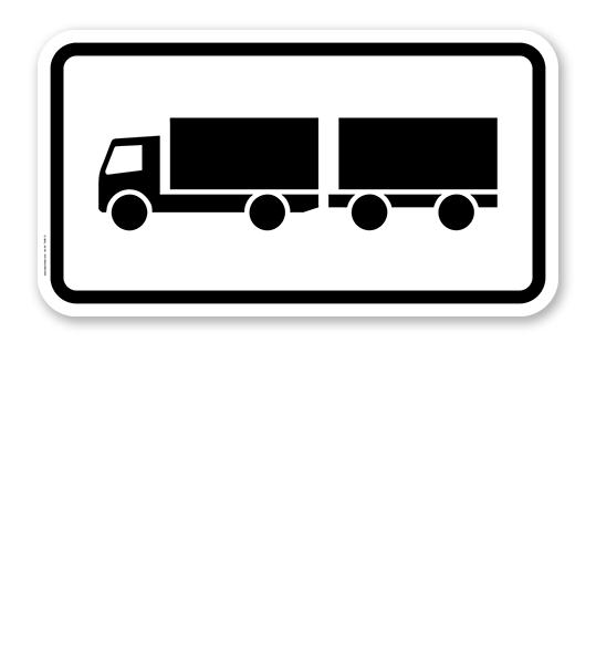 zusatzschild nur lastkraftwagen mit anh nger verkehrsschild vz 1048 13 zur verkehrsf hrung. Black Bedroom Furniture Sets. Home Design Ideas