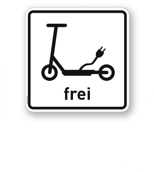 Zusatzschild Elektrokleinstfahrzeuge (Elektroroller / e Scooter) frei - Verkehrsschild