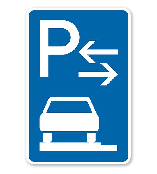 Parkplatzschild Parken ganz auf Gehwegen - Mitte - VZ 315-63