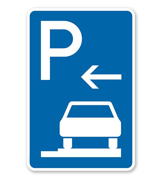 Parkplatzschild Parken ganz auf Gehwegen - Anfang - VZ 315-66
