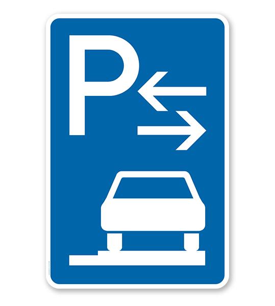 Parkplatzschild Parken ganz auf Gehwegen - Mitte - VZ 315-68