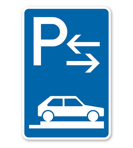 Parkplatzschild Parken ganz auf Gehwegen - Mitte - VZ 315-88