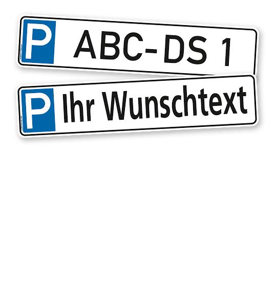 Parkplatzreservierer / Parkplatzschild - individuell – P
