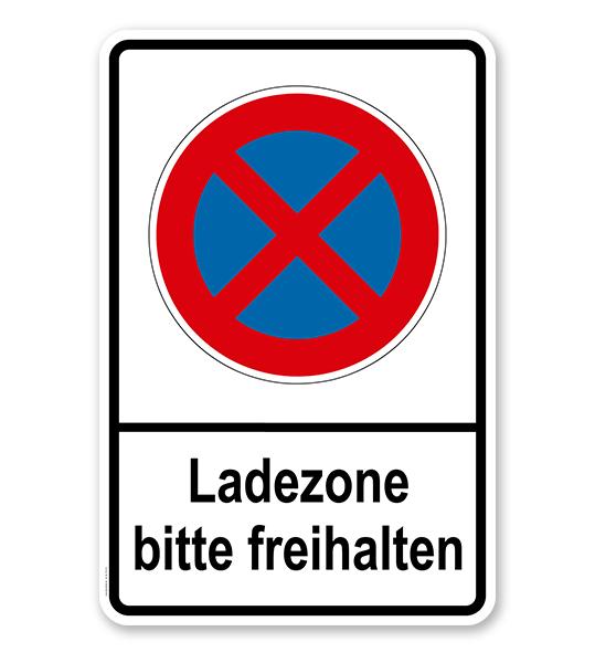 Absolutes Halteverbot - Ladezone bitte freihalten