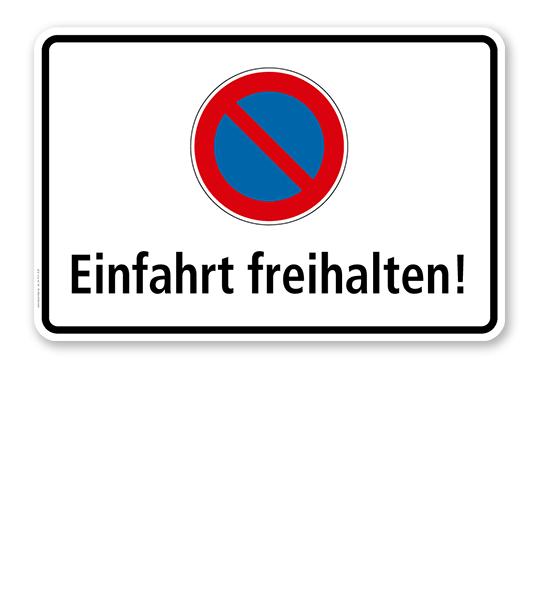 Eingeschränktes Halteverbot - Einfahrt freihalten