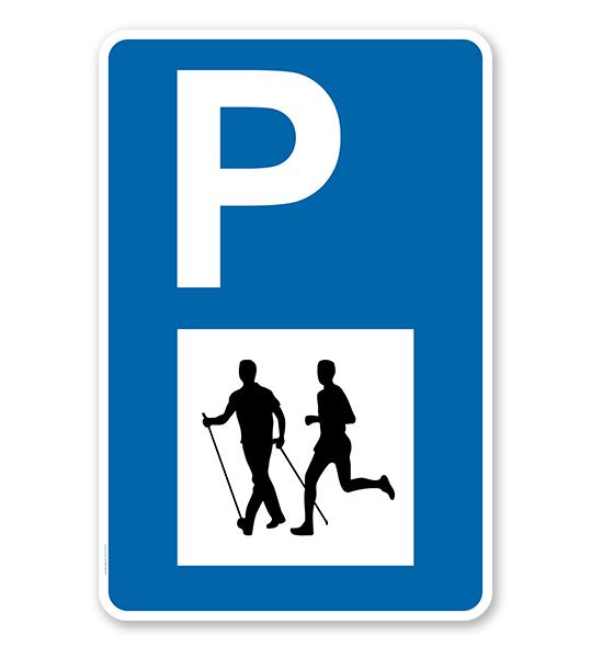 Parkplatzschild - Laufsport - mit Symbol – P