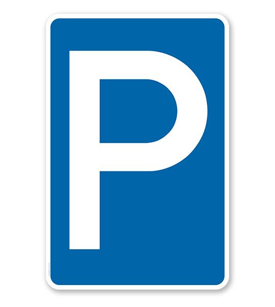 Parkplatzschild Parken – P