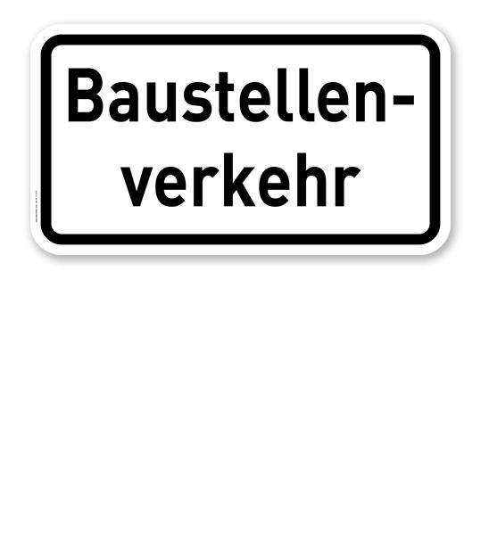 Zusatzschild Baustellenverkehr – Verkehrsschild VZ 2131