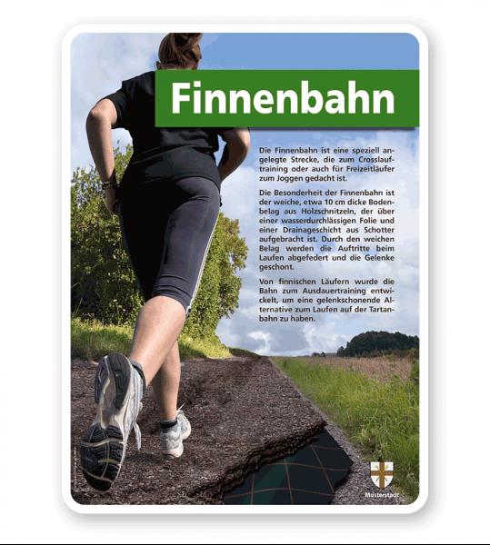 Schild Finnenbahn - PB