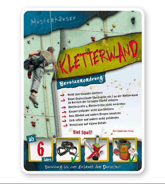 Spielplatzschild Kletterwand 4P - PB