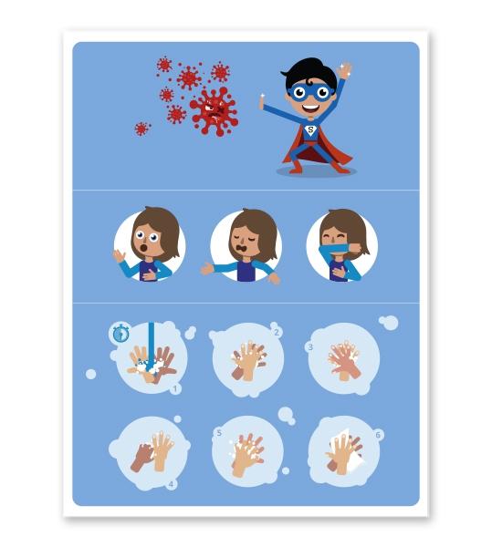 Hinweisschild Kinder-Handhygiene - SCH-HWK-04