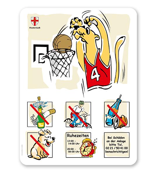 Spielplatzschild Basketball - Puma 6P - SHB