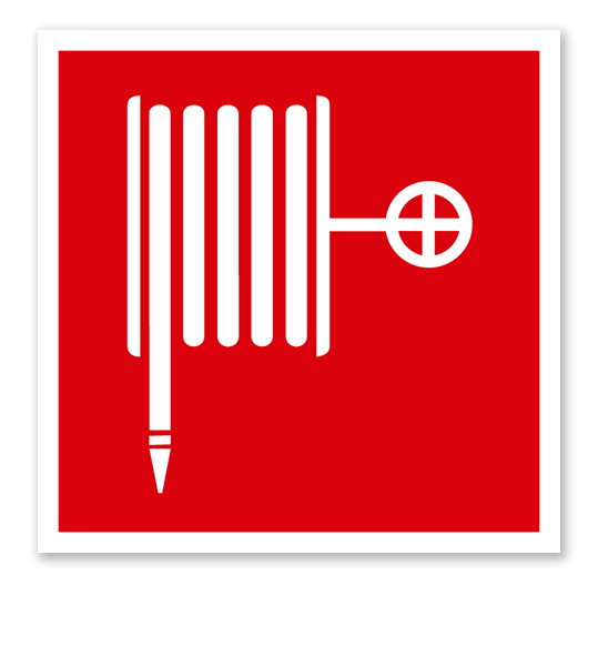 Brandschutzzeichen Löschschlauch nach ASR A 1.3 (2007), BGV A8 F 03