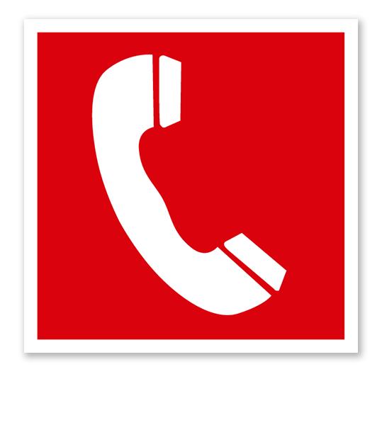 Brandschutzzeichen Brandmeldetelefon nach ASR A 1.3 (2007), BGV A8 F 06