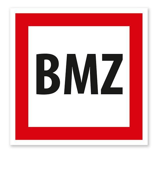 Brandschutzzeichen BMZ - Brandmeldezentrale nach DIN 4066