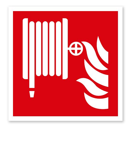 Brandschutzzeichen Löschschlauch nach DIN EN ISO 7010 - F 002