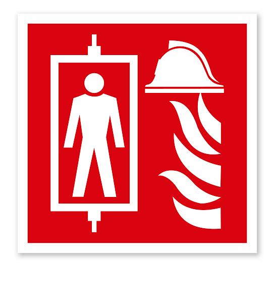 Brandschutzzeichen Feuerwehraufzug nach DIN EN 81-72
