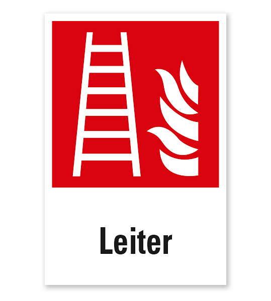 Brandschutzzeichen Feuerleiter nach DIN EN ISO 7010 - F 003 - Kombi