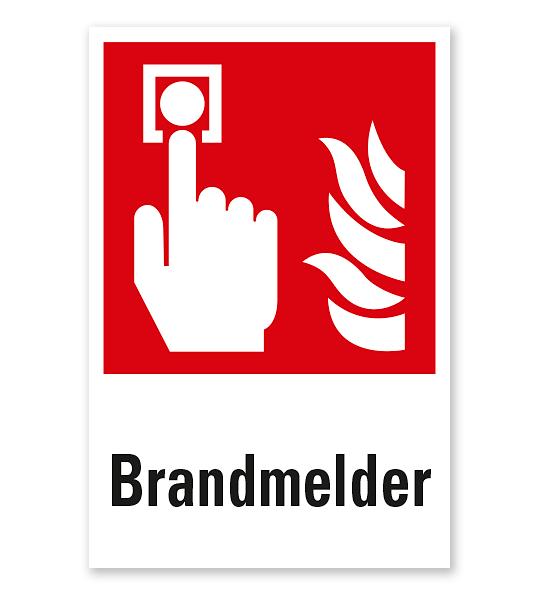 Brandschutzzeichen Brandmelder nach DIN EN ISO 7010 - F 005 - Kombi