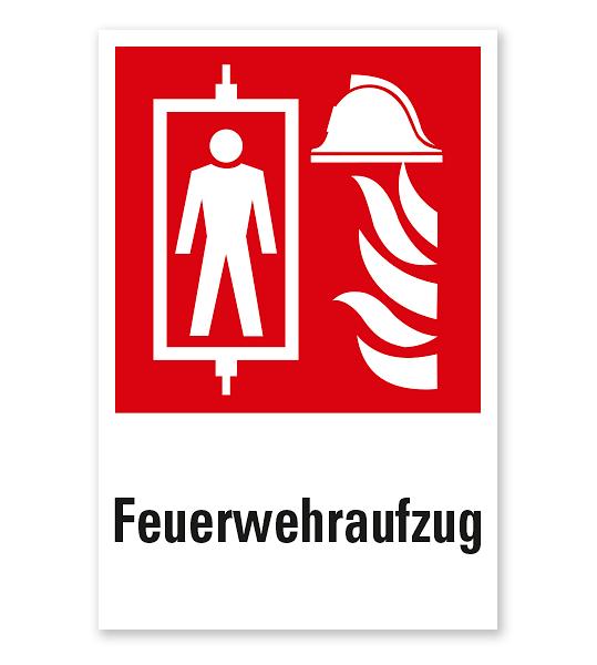 Brandschutzzeichen Feuerwehraufzug nach DIN EN 81-72 - Kombi