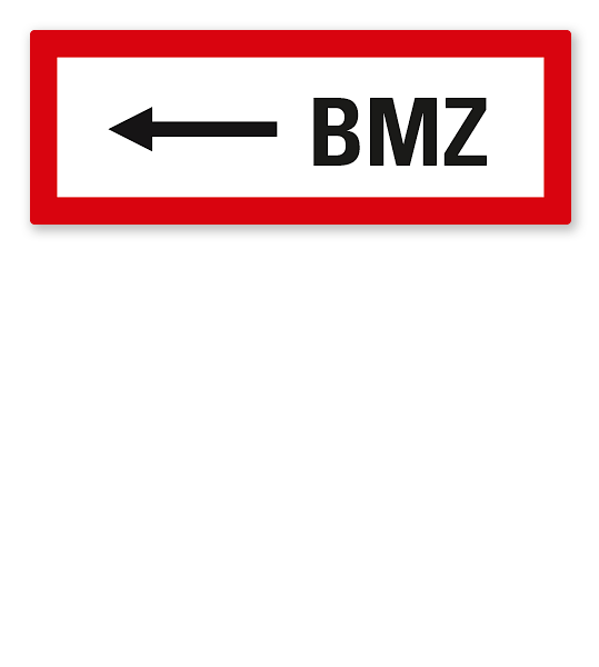 Brandschutzschild BMZ - linksweisend nach DIN 4066