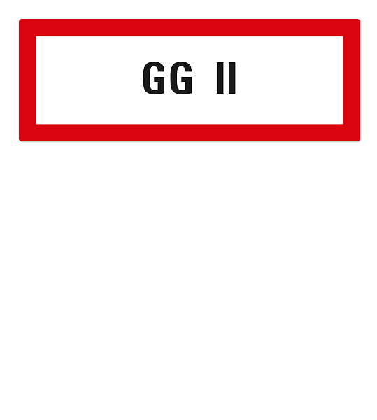 Brandschutzschild GG II nach DIN 4066