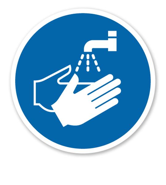 Gebotszeichen Hände waschen nach DIN EN ISO 7010 - M 011