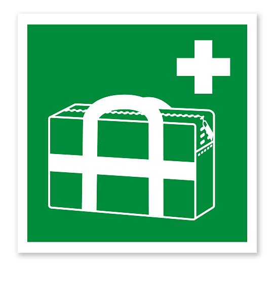 Rettungszeichen Medizinischer Notfallkoffer nach DIN EN ISO 7010 - E 027