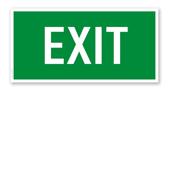 Fluchtwegschild Rettungsweg / Notausgang Exit