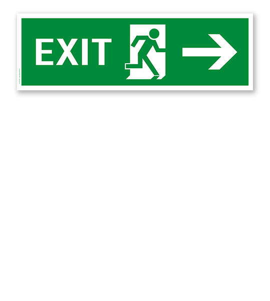 Fluchtwegschild / Rettungsschild Exit rechts