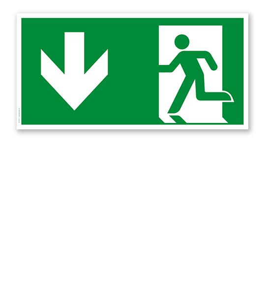 Fluchtwegschild Notausgang nach DIN EN ISO 7010 - E 001-4