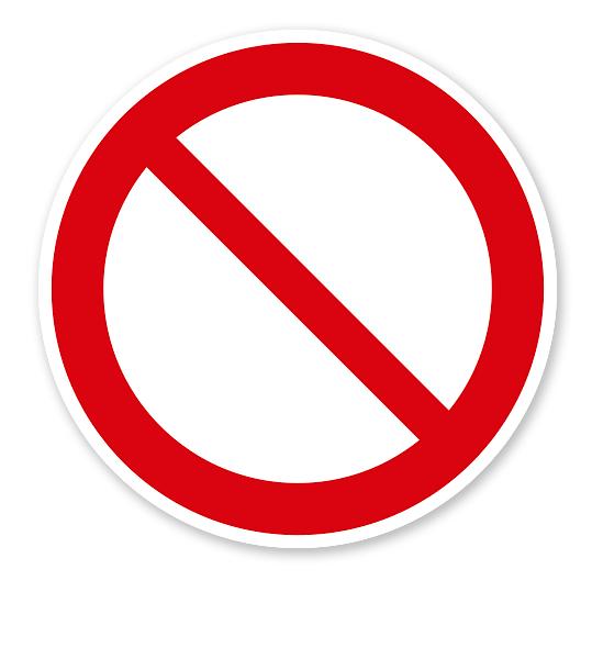 Verbotszeichen allgemein nach DIN EN ISO 7010 - P 001