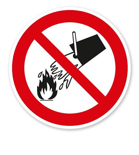 Verbotszeichen Mit Wasser löschen verboten nach BGV A8 - P04