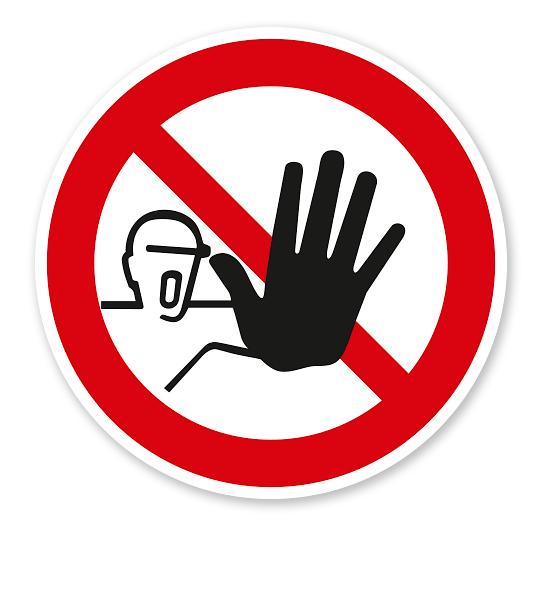 Verbotszeichen Zutritt für Unbefugte verboten nach BGV A8 - P06