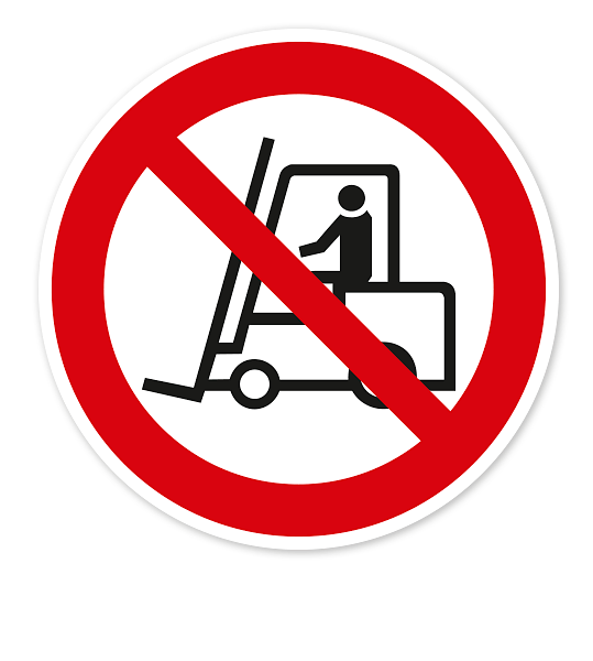 Verbotszeichen Für Flurförderzeuge verboten nach BGV A8 - P07