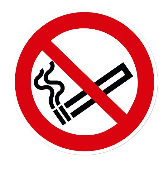 Verbotszeichen Rauchen verboten nach DIN EN ISO 7010 - P 002