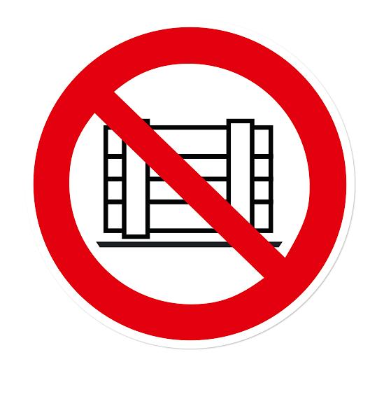 Verbotszeichen Abstellen oder Lagern verboten nach DIN EN ISO 7010 - P 023