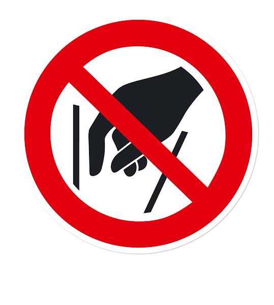 Verbotszeichen Hineinfassen verboten nach DIN EN ISO 7010 - P 015